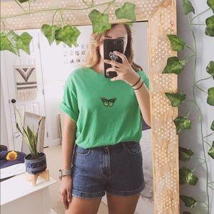 ❁ Green butterfly tee ❁